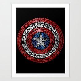 Who is Steve Rogers? Art Print