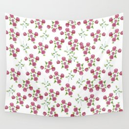 Watercolor roses on white backgroung Wall Tapestry