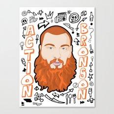 Action Bronson Portrait 2 Canvas Print