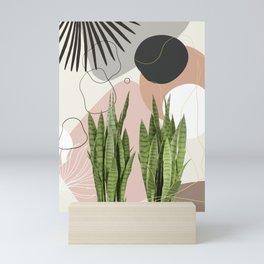 Snake Plant Fan Palm Finesse #1 #tropical #decor #art #society6 Mini Art Print