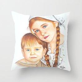 Siblings' love Throw Pillow