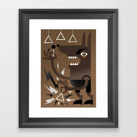"""Wolf"" Monster Rock Framed Art Print"