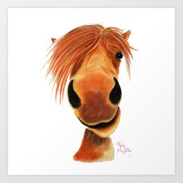 Happy Horse ' GINGER NUT ' by Shirley MacArthur Art Print