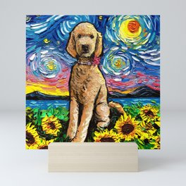 Goldendoodle Night 2 Mini Art Print