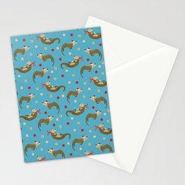 Otter-ly Festive Holiday Patten  Stationery Cards