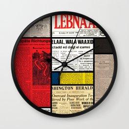 Mondrian's News Wall Clock