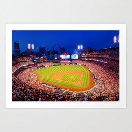 Home Field Advantage - Saint Louis Busch Stadium Art Print