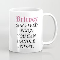 britney Mugs featuring Britney Survived, Britney. by eriicms