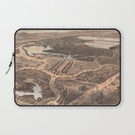 Vintage Pictorial Map of Central Park (1864) Laptop Sleeve