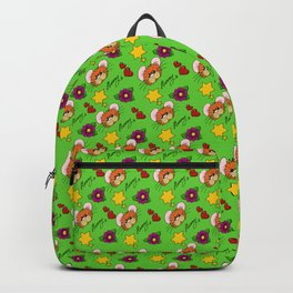 Hammy Pattern in Bright Green Backpack