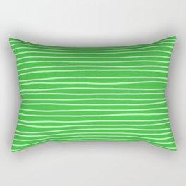 Grass Green Pinstripes Rectangular Pillow