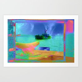 View of The Lady In Waiting Art Print
