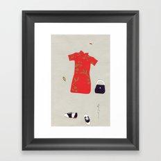 Chinese Silk Dress Outfit Framed Art Print