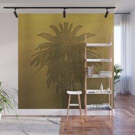 Golden Palm Tree Wall Mural