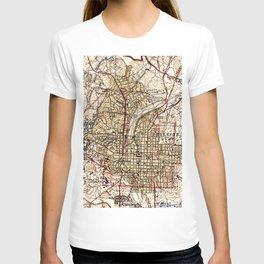 Vintage Map of Raleigh North Carolina (1940) T-shirt