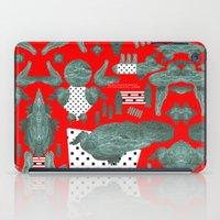 crocodile iPad Cases featuring crocodile by BUBUBABA