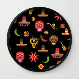 Dia de los muertos - Day of the Dead Wall Clock