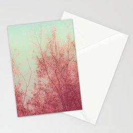 Harmony (Mint Blue Sky, Coral Pink Plants) Stationery Cards