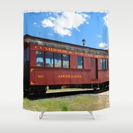 Red Railroad Car - Cumbres And Toltec Shower Curtain