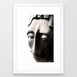 pacal bust one Framed Art Print