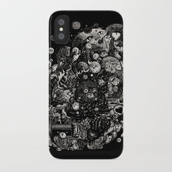 Spark-Eyed Oblivion Cascade Blues iPhone Case