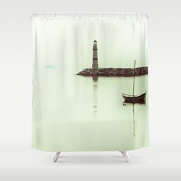 white clear life Shower Curtain
