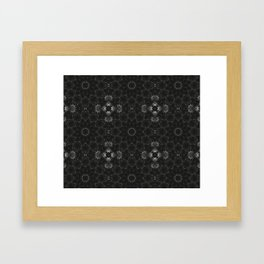 Black Floral Pattern Framed Art Print