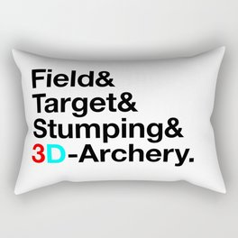 Field & Target & Stumping & 3D Archery Rectangular Pillow