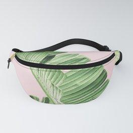 Banana Leaf on pink Fanny Pack