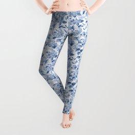Blue Hydrangea Smaller Pattern Leggings