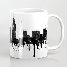 Watercolor Chicago Skyline Mug