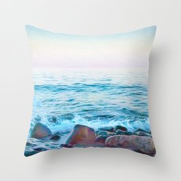 Hope on the Rocks Throw Pillow