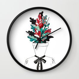 Office Girl Wall Clock