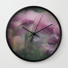 Poppy Dreams Wall Clock