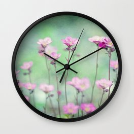 Saxifragia Wall Clock