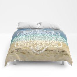Beach Mandala Comforters
