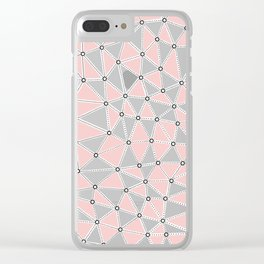Seg African Blush Mint Clear iPhone Case