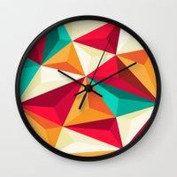 diamond Wall Clocks featuring Diamond by Azarias