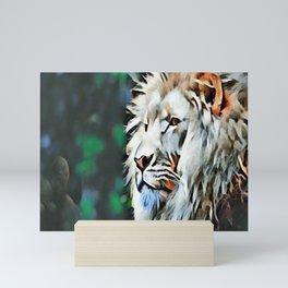 The lion jungle Mini Art Print