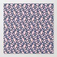 Olympic Navy on Blush Canvas Print