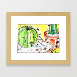 Travelling Postcard #1 - If you look closer ... Framed Art Print