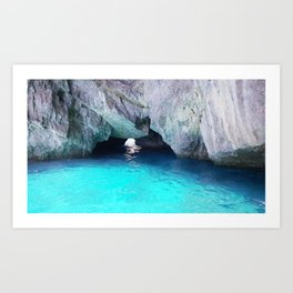 Capri Blue Grotto Art Print