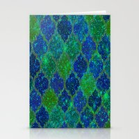 moroccan Stationery Cards featuring Glitter Moroccan by Saundra Myles