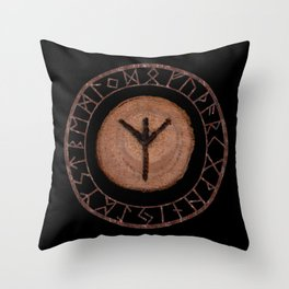 Algiz Elder Futhark Rune divinity, higher self, the state of listening, protective teaching force Throw Pillow