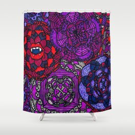 Spooky Flowers Shower Curtain