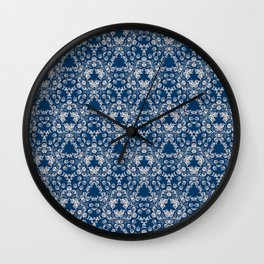 Blue Victorian Lace Wall Clock