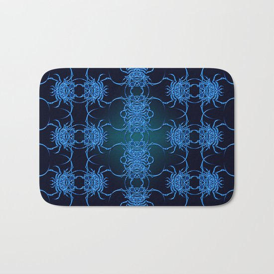 Tribal Crab Pattern Bath Mat