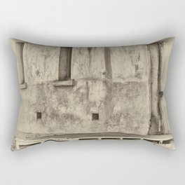 Antique plate style old loading dock Rectangular Pillow
