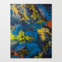 cosmic Canvas Prints featuring Cosmic by yellowbunnies