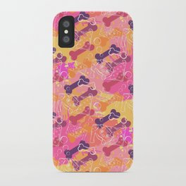 A series of strange animals.Crazy Dog .Such simple pleasures. iPhone Case